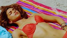 Super Hot Deepika In Red Bikini