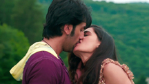 Ranbir and Nargis share a kiss