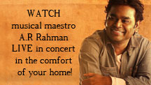 "Live streaming of ""Lekar Hum Deewana Dil"" gig with A R Rahman"