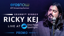 Ricky Kej Live at One Page Spotlight Promo