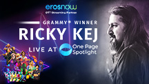Ricky Kej Live at One Page Spotlight
