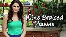 Wine Braised Prawns