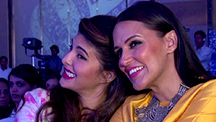 Jacqueline and Neha Dhupia at Lonely Planet Travel Awards