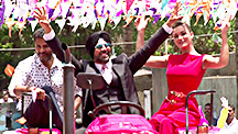 Akshay Arrives on a Tractor