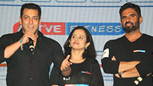 Suniel Shetty and Salman Khan Launch A New Fitness Channel