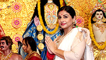 Vidya Balan Celebrates Durga Puja