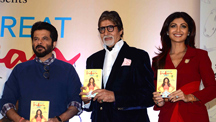 Amitabh Bachchan, Anil Kapoor and Varun Dhawan at Shilpa Shetty's Book Launch