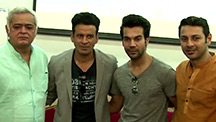 Manoj Bajpayee and Rajkummar Rao Promoting Aligarh at Mumbai College