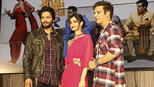 Diana Penty Dances with Mika Singh at 'Happy Bhag Jayegi' song launch