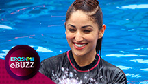 Yami Gautam performs Water Yoga