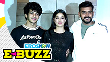 Ishaan Khatter, Janhvi and Khushi Kapoor at a success party