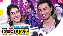 Warina Hussain and Aayush Sharma at a promotional event