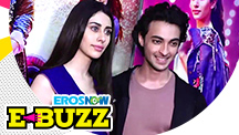 Aayush Sharma and Warina Hussain during the film promotions