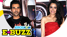 Shraddha Kapoor and Rajkummar Rao at a success party