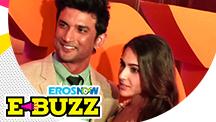 Sushant Singh Rajput and Sara Ali Khan at a trailer launch