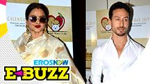 Tiger Shroff, Rekha and Kapil Sharma at the launch of Omung Sharma's calendar