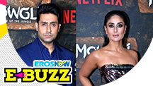Kareena Kapoor Khan and Abhishek Bachchan At A Premiere