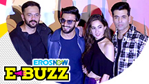Ranveer Singh, Sara Ali Khan & Karan Johar at a Trailer Launch
