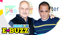 Anupam Kher and Akshaye Khanna at a trailer launch