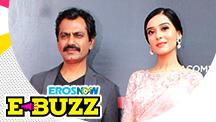 Nawazuddin Siddiqui, Amrita Rao and Uddhav Thackeray at a trailer launch
