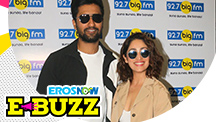 Vicky Kaushal and Yami Gautam at a radio event