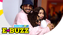 Ranveer Singh and Alia Bhatt at a radio station
