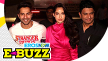 Varun Dhawan and Bhushan Kumar at Noora Fatehi's Birthday Bash