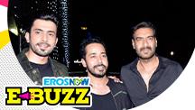 Ajay Devgn and Kartik Aaryan spotted at a movie screening.