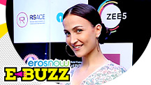 Elli AvrRam attends the press conference of an event in Mumbai