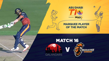 Match 16 - QLD vs MA - Marquee Player of the Match