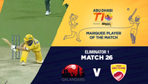 Eliminator 1 - QLD vs AD - Marquee Player of the Match